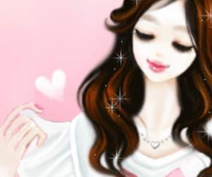 damsel, feminine, and lovely girl image