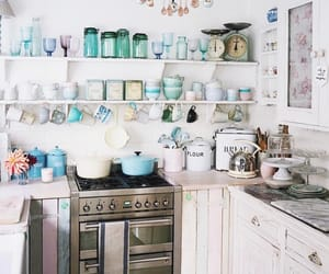 home, kitchen, and pastel image