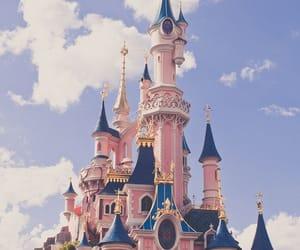 disney, castle, and disneyland image