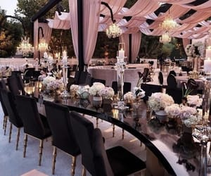centerpiece, decoration, and groom image