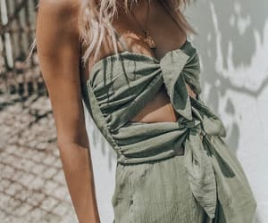 details, girl, and green image
