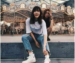 aesthetic, best friends, and kfashion image