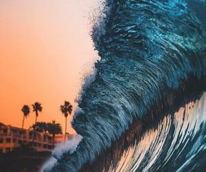 landscape, waves, and ocean image