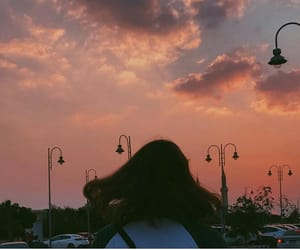 beautiful, fluffy clouds, and grunge image