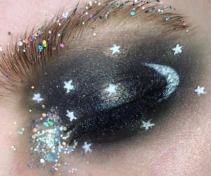 beauty, maquillaje, and moon image
