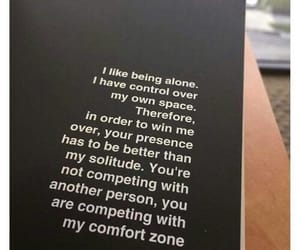 quotes, alone, and black image