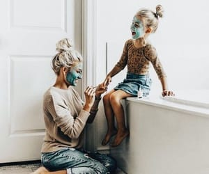 daughter, family, and mom image