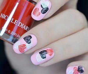 beauty, pink, and nailart image