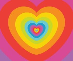 heart, rainbow, and kidcore image