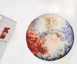 planet and watercolor image