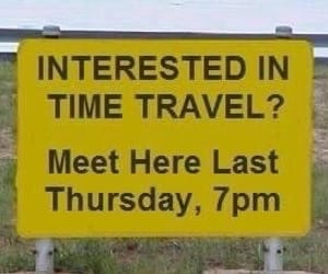 yellow, funny, and time travel image