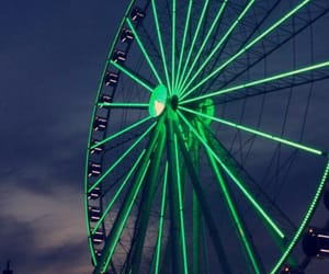aesthetic, ferris wheel, and green image
