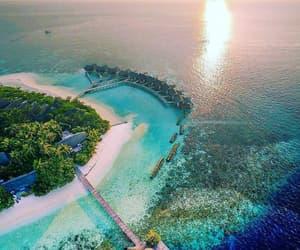 islands, summer, and Maldives image