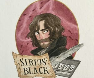 art, harry potter, and sirius black image