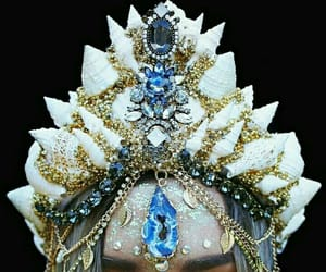 crown, mermaid, and blue image
