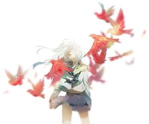 abstract, anime girl, and school uniform image