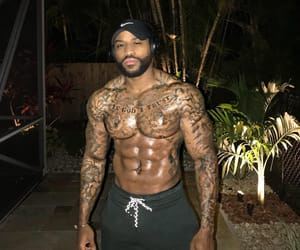 abs, male model, and Tattoos image