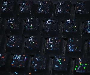 glitter, grunge, and keyboard image