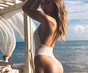 body, josephine skriver, and beach image