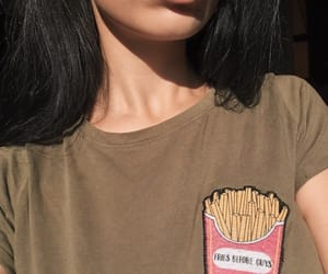 black hair, feed, and fries image