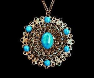 etsy, turquoise necklace, and boho necklace image