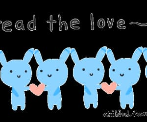 bunnies, gif, and hearts image