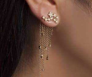 stars, beautiful, and earrings image