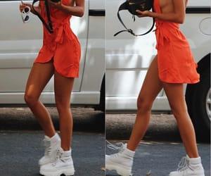 dress, legs, and fashion image