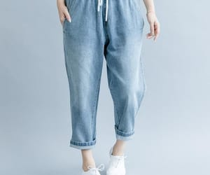 etsy, loose pants, and light blue jeans image