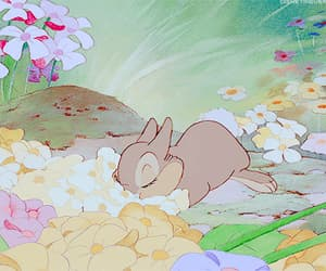 disney, bambi, and flowers image