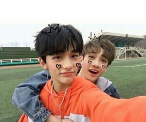 Chan, hyunjin, and stray kids image