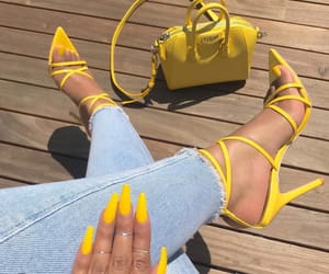 nails, yellow, and fashion image