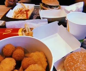 big mac, food, and fries image