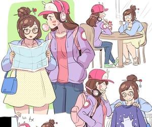 glasses, hat, and illustration image