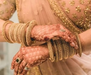 bangles, gold, and bride image