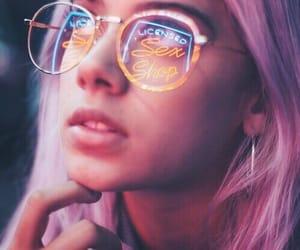 brandon, girl, and neon image