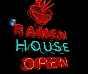 aesthetics, neon sign, and ramen image