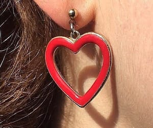aesthetic, red, and earings image