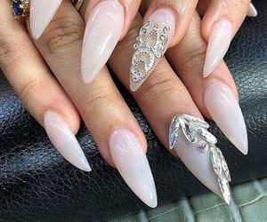 nail, nail art, and acrylic nails image