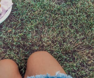 grass, knee, and party image