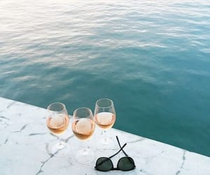 champagne, drinks, and sunglasses image