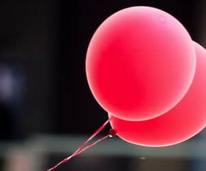 balloon, little, and red image
