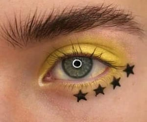 yellow, beauty, and eyes image