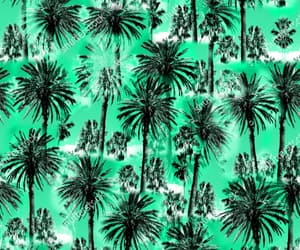 black, palm trees, and pattern image