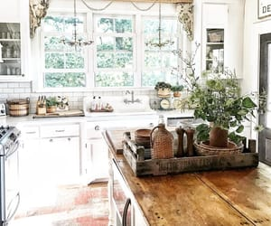 interiors, farmhouse kitchen, and fresh and clean image