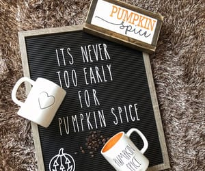 autumn, october, and pumpkin spice image