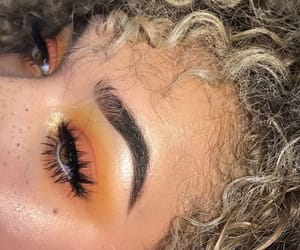 makeup, eyeshadow, and orange image