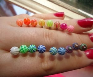 colorful, Piercings, and body jewelry image