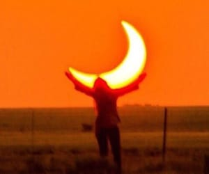 moon and orange image