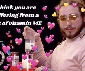meme, hearts, and post malone image